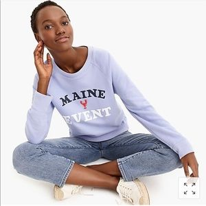 "Jcrew ""Maine Event"" Sweatshirt small"